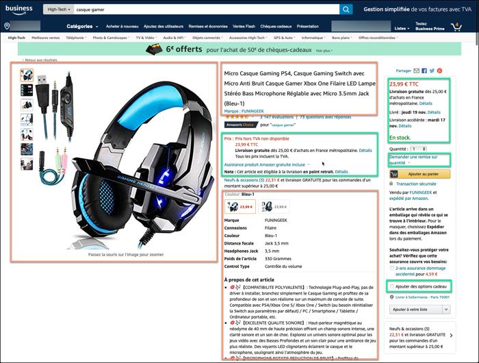 Difference offres et produits pour le flux produits intégrateur de flux marketplace